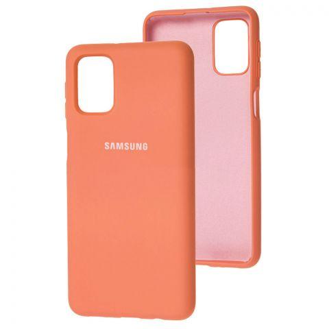 Силиконовый чехол для Samsung Galaxy M51 (M515) Silicone Full-Peach