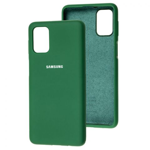 Силиконовый чехол для Samsung Galaxy M51 (M515) Silicone Full-Pine Green