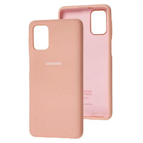 Силиконовый чехол для Samsung Galaxy M51 (M515) Silicone Full-Pink Sand