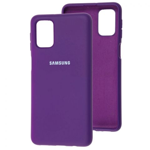 Силиконовый чехол для Samsung Galaxy M51 (M515) Silicone Full-Purple