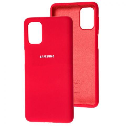 Силиконовый чехол для Samsung Galaxy M51 (M515) Silicone Full-Rose Red