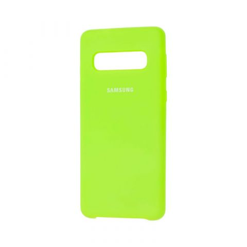Чехол для Samsung Galaxy S10 (G973) Silicone Cover Soft Touch-Light Green