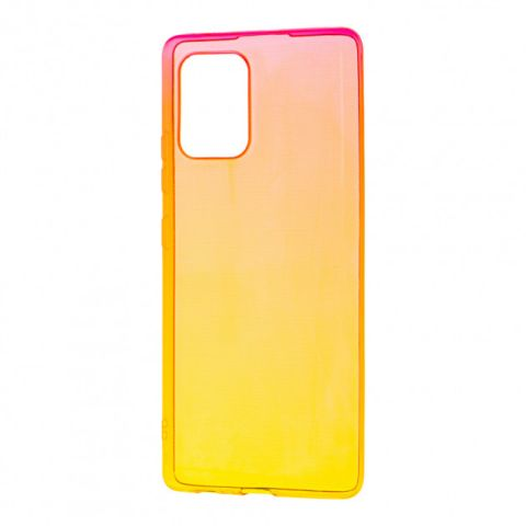 Силиконовый чехол для Samsung Galaxy S10 Lite (G770) Gradient Design-Red/Yellow