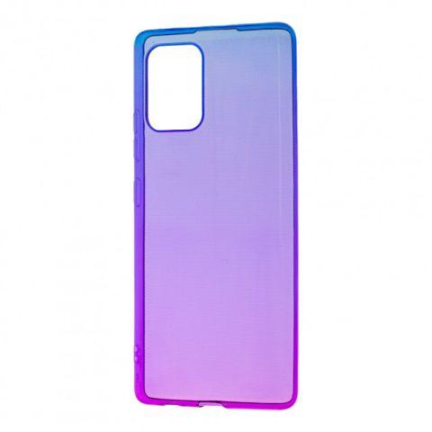 Силиконовый чехол для Samsung Galaxy S10 Lite (G770) Gradient Design-Violet/Blue