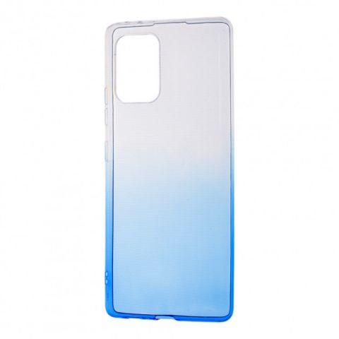 Силиконовый чехол для Samsung Galaxy S10 Lite (G770) Gradient Design-White/Blue