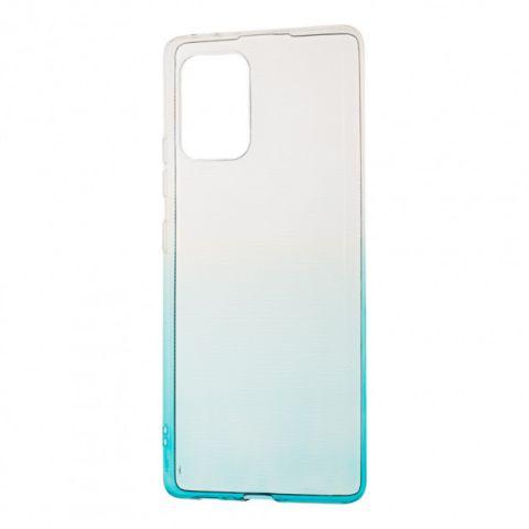 Силиконовый чехол для Samsung Galaxy S10 Lite (G770) Gradient Design-White/Turquoise