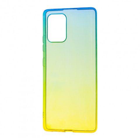 Силиконовый чехол для Samsung Galaxy S10 Lite (G770) Gradient Design-Yellow/Green