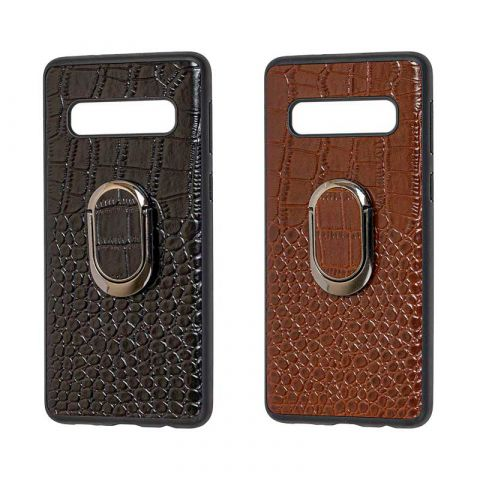 Кожаный чехол для Samsung Galaxy S10 Plus (G975) Genuine Leather Croco
