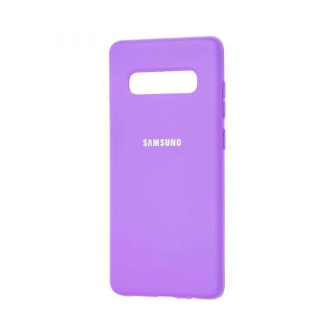 Чехол для Samsung Galaxy S10 Plus (G975) Silicone Full-Lavender