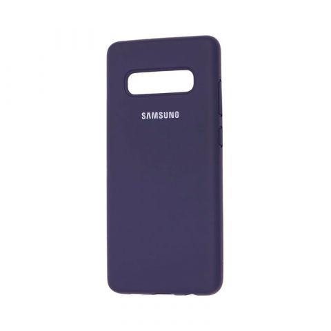 Чехол для Samsung Galaxy S10 Plus (G975) Silicone Full-Midnight Blue