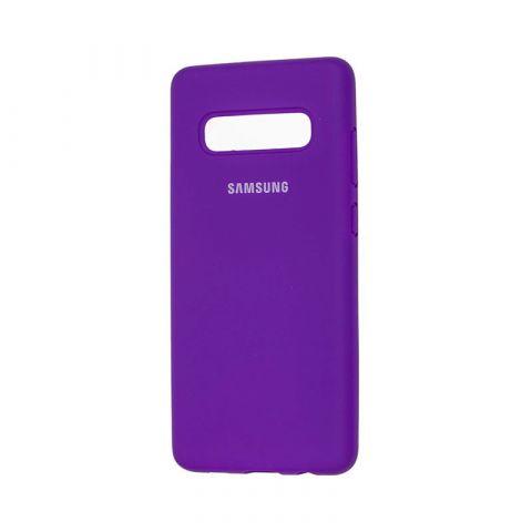 Чехол для Samsung Galaxy S10 Plus (G975) Silicone Full-Ultra Violet