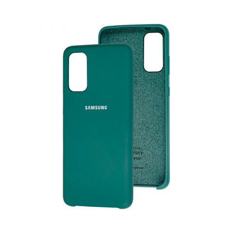 Чехол для Samsung Galaxy S20 (G980) Soft Touch Silicone Cover-Pine Green