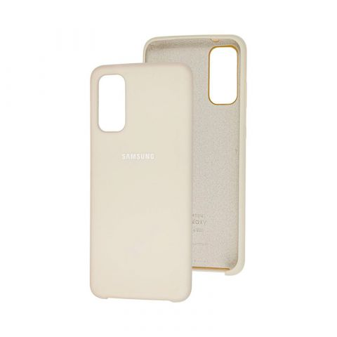 Чехол для Samsung Galaxy S20 (G980) Soft Touch Silicone Cover-Stone