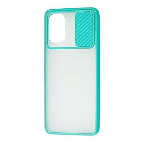 Чехол для Samsung Galaxy S20 Plus (G985) LikGus Camshield camera protect (с защитой камеры)-Turquoise