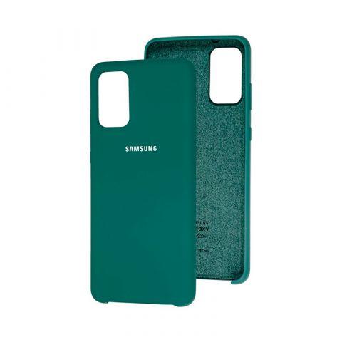 Чехол для Samsung Galaxy S20 Plus (G985) Soft Touch Silicone Cover-Pine Green
