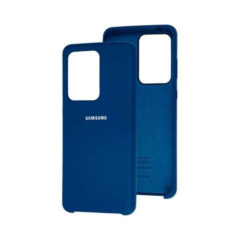 Чехол для Samsung Galaxy S20 Ultra (G988) Soft Touch Silicone Cover-Blue
