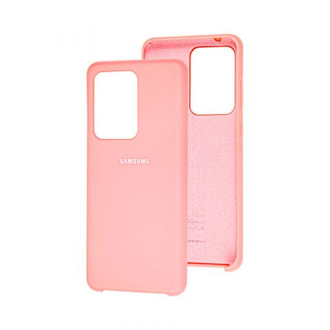Чехол для Samsung Galaxy S20 Ultra (G988) Soft Touch Silicone Cover-Light Pink