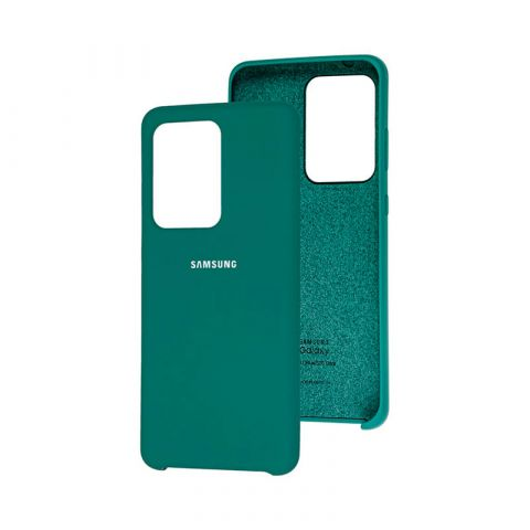 Чехол для Samsung Galaxy S20 Ultra (G988) Soft Touch Silicone Cover-Pine Green