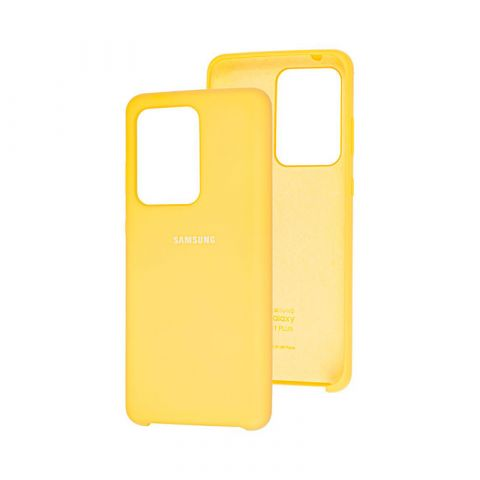 Чехол для Samsung Galaxy S20 Ultra (G988) Soft Touch Silicone Cover-Yellow