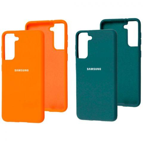Силиконовый чехол для Samsung Galaxy S21 (G991) Silicone Full