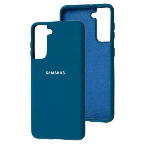 Силиконовый чехол для Samsung Galaxy S21 (G991) Silicone Full-Cosmos Blue