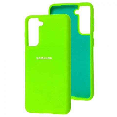Силиконовый чехол для Samsung Galaxy S21 (G991) Silicone Full-Green