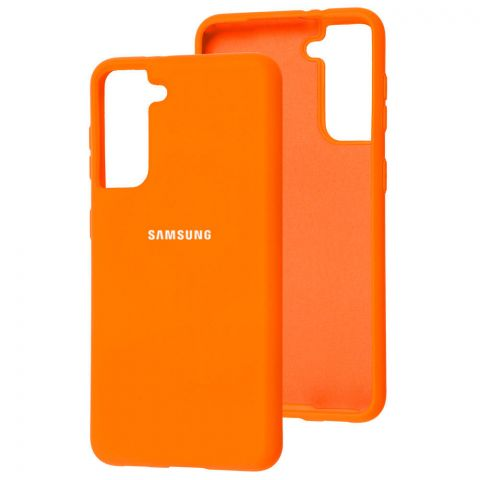 Силиконовый чехол для Samsung Galaxy S21 (G991) Silicone Full-Orange