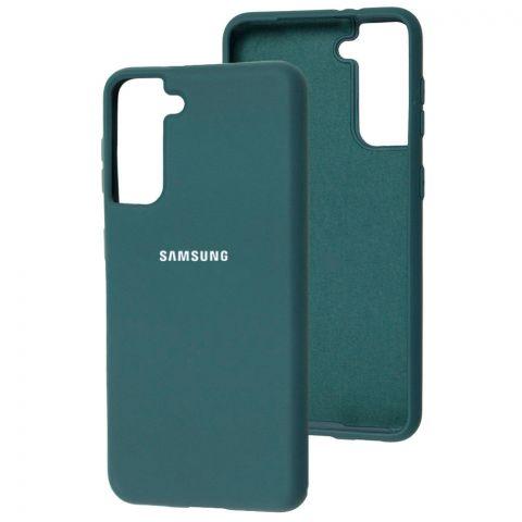 Силиконовый чехол для Samsung Galaxy S21 (G991) Silicone Full-Pine Green