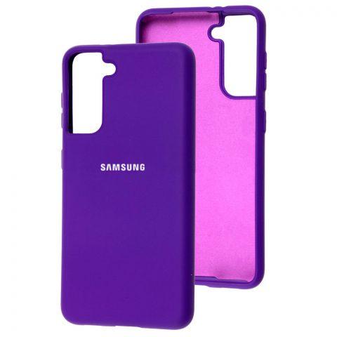 Силиконовый чехол для Samsung Galaxy S21 (G991) Silicone Full-Ultra Violet