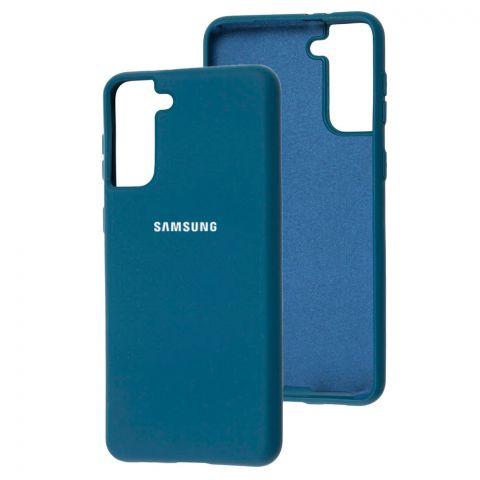 Силиконовый чехол для Samsung Galaxy S21 Plus (G996) Silicone Full-Cosmos Blue