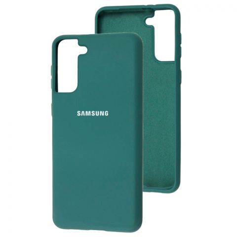 Силиконовый чехол для Samsung Galaxy S21 Plus (G996) Silicone Full-Pine Green