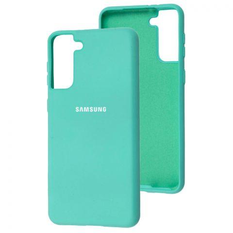 Силиконовый чехол для Samsung Galaxy S21 Plus (G996) Silicone Full-Sea Blue