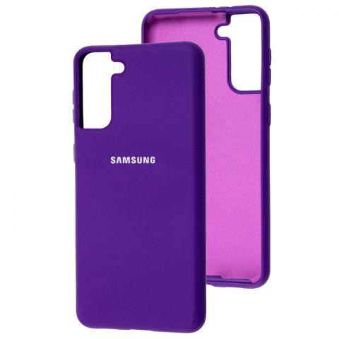 Силиконовый чехол для Samsung Galaxy S21 Plus (G996) Silicone Full-Ultra Violet