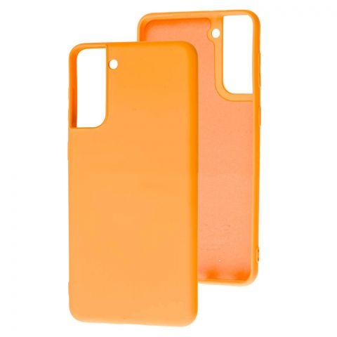 Силиконовый чехол для Samsung Galaxy S21 Plus (G996) Wave Colorful-Peach