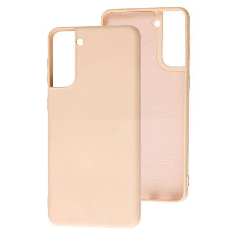 Силиконовый чехол для Samsung Galaxy S21 Plus (G996) Wave Colorful-Pink Sand