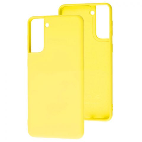 Силиконовый чехол для Samsung Galaxy S21 Plus (G996) Wave Colorful-Yellow
