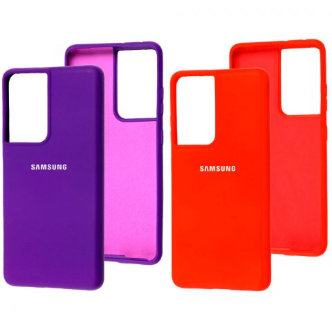 Силиконовый чехол для Samsung Galaxy S21 Ultra (G998) Silicone Full