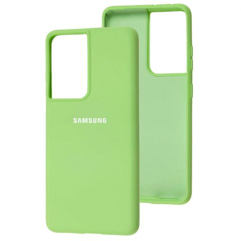 Силиконовый чехол для Samsung Galaxy S21 Ultra (G998) Silicone Full-Mint