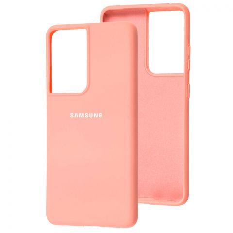 Силиконовый чехол для Samsung Galaxy S21 Ultra (G998) Silicone Full-Pink