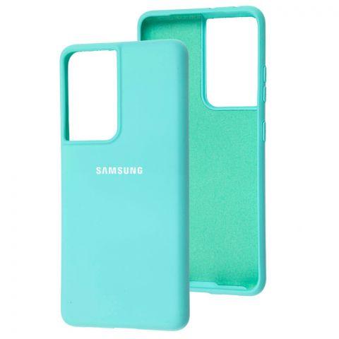 Силиконовый чехол для Samsung Galaxy S21 Ultra (G998) Silicone Full-Sea Blue