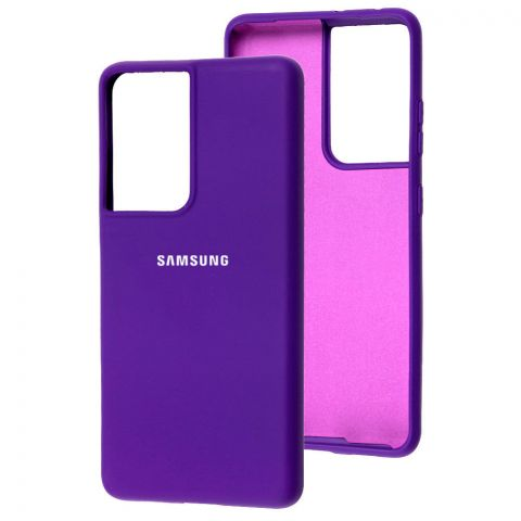 Силиконовый чехол для Samsung Galaxy S21 Ultra (G998) Silicone Full-Ultra Violet