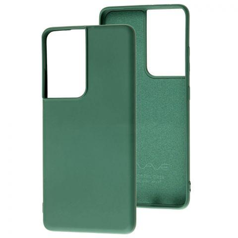 Силиконовый чехол для Samsung Galaxy S21 Ultra (G998) Wave Colorful-Forest Green