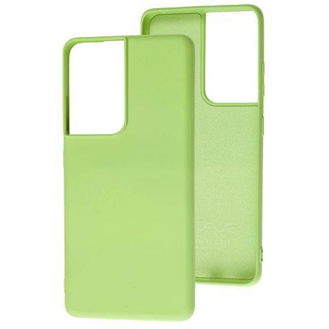 Силиконовый чехол для Samsung Galaxy S21 Ultra (G998) Wave Colorful-Mint