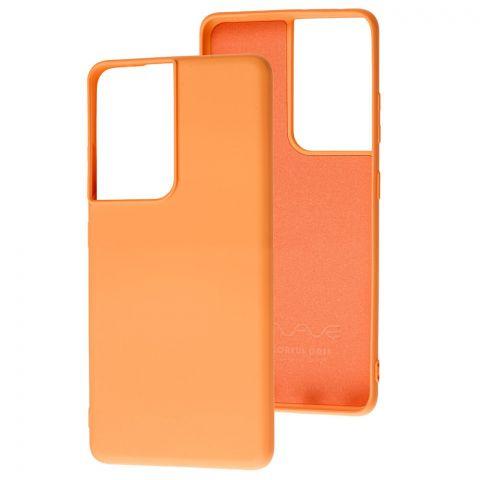 Силиконовый чехол для Samsung Galaxy S21 Ultra (G998) Wave Colorful-Peach