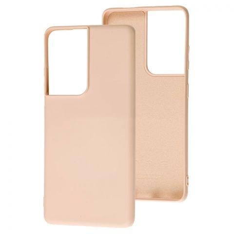 Силиконовый чехол для Samsung Galaxy S21 Ultra (G998) Wave Colorful-Pink Sand