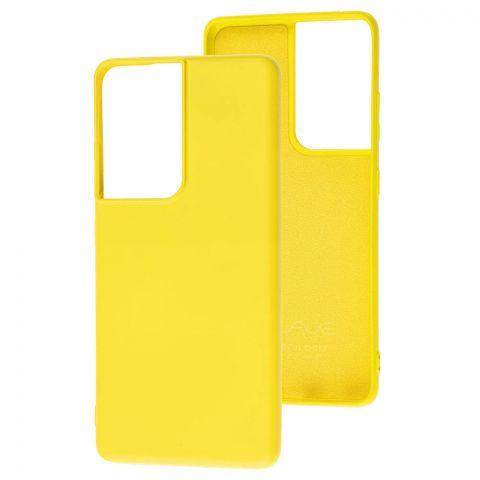 Силиконовый чехол для Samsung Galaxy S21 Ultra (G998) Wave Colorful-Yellow