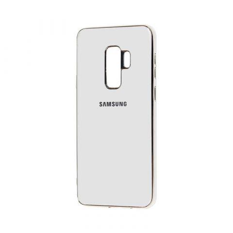 Чехол для Samsung Galaxy S9 Plus (G965) Glass Silicone Case-White