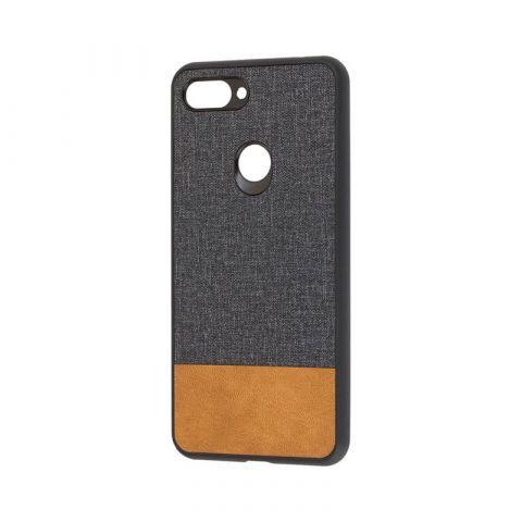 Чехол на Xiaomi Mi 8 Lite Hard Textile-Black/Brown