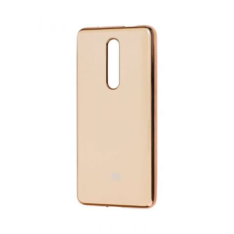 Чехол для Xiaomi Mi 9T (Redmi K20) Glass Silicone Case-Coffee
