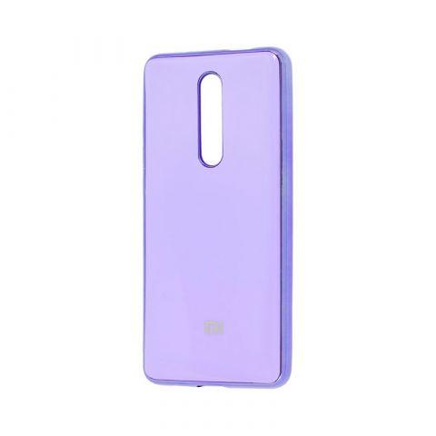 Чехол для Xiaomi Mi 9T (Redmi K20) Glass Silicone Case-Lavender